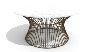 curved wire mesh marble 3D