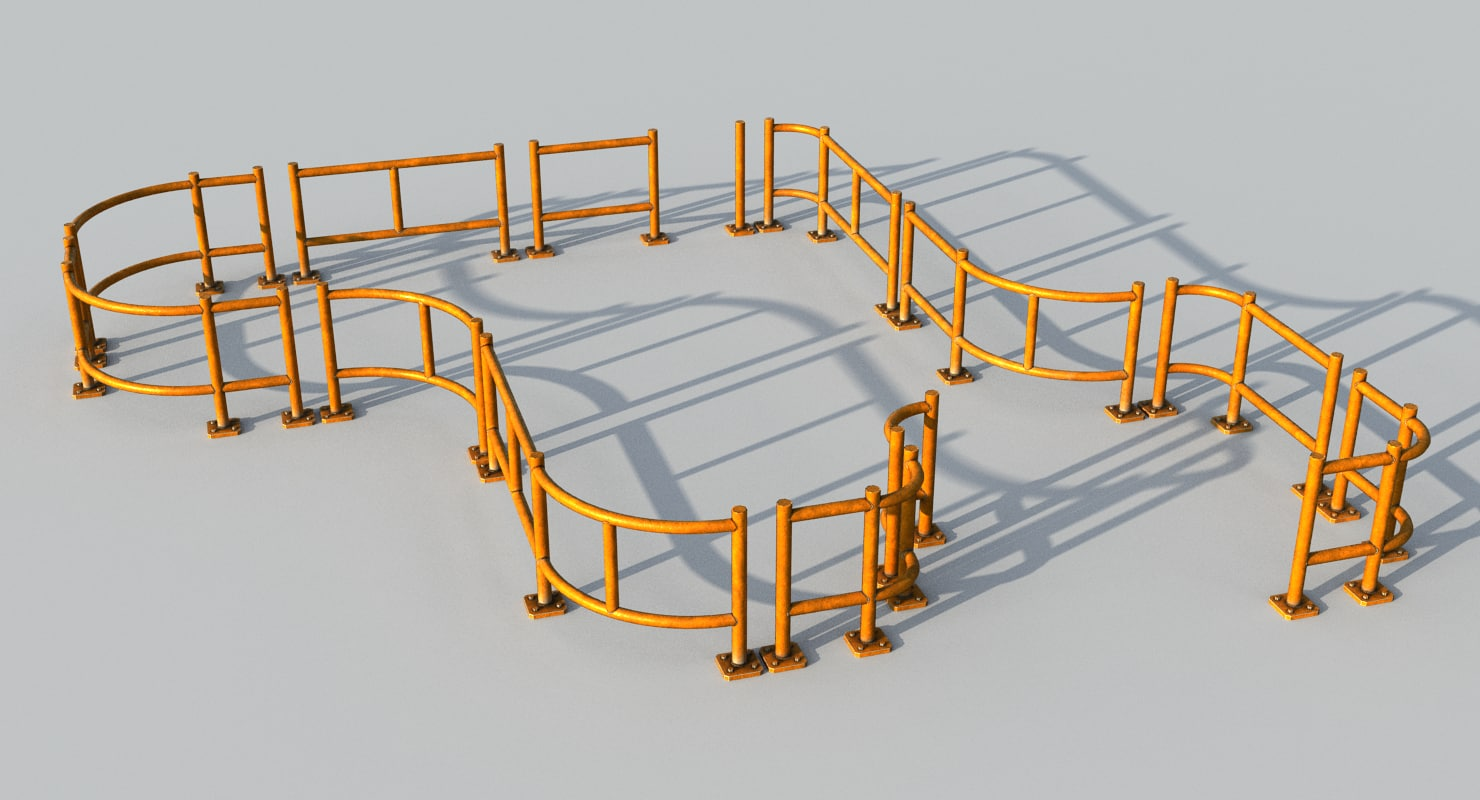 warehouse fence 3D