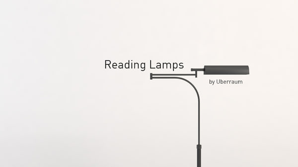 3D reading lamps