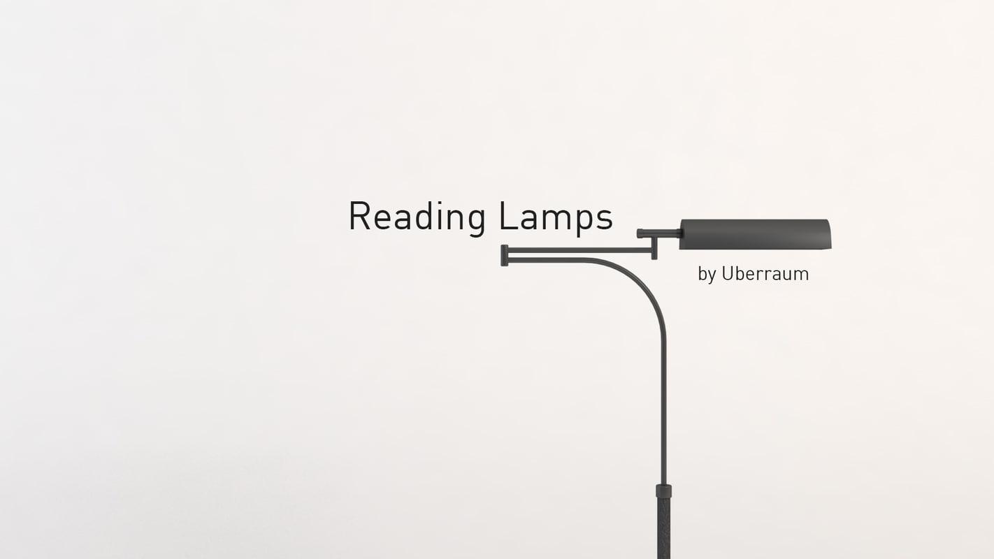 3D reading lamps