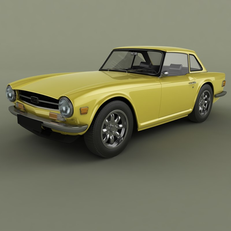 3D model triumph tr6