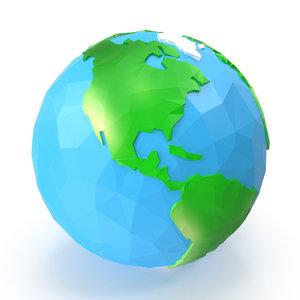 3D cartoon earth model