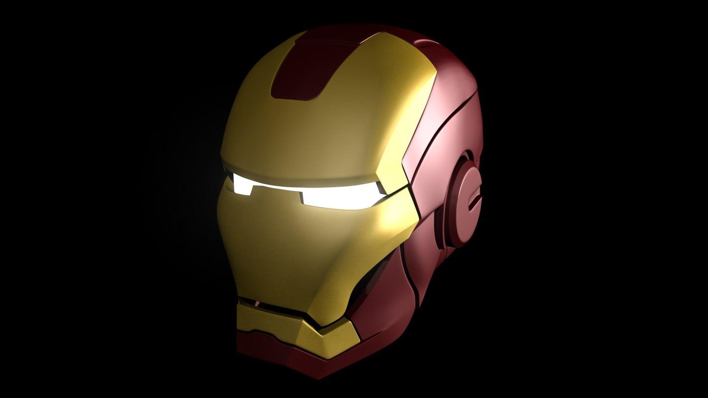 ironman helmet 3D model