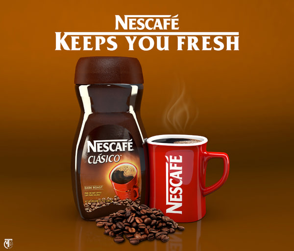 nescafe jar mug model