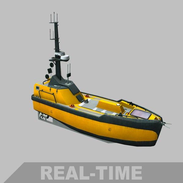 autonomous surface vehicle 3D model