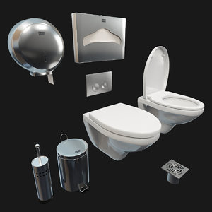 3D toilet bowl jacob delafon model
