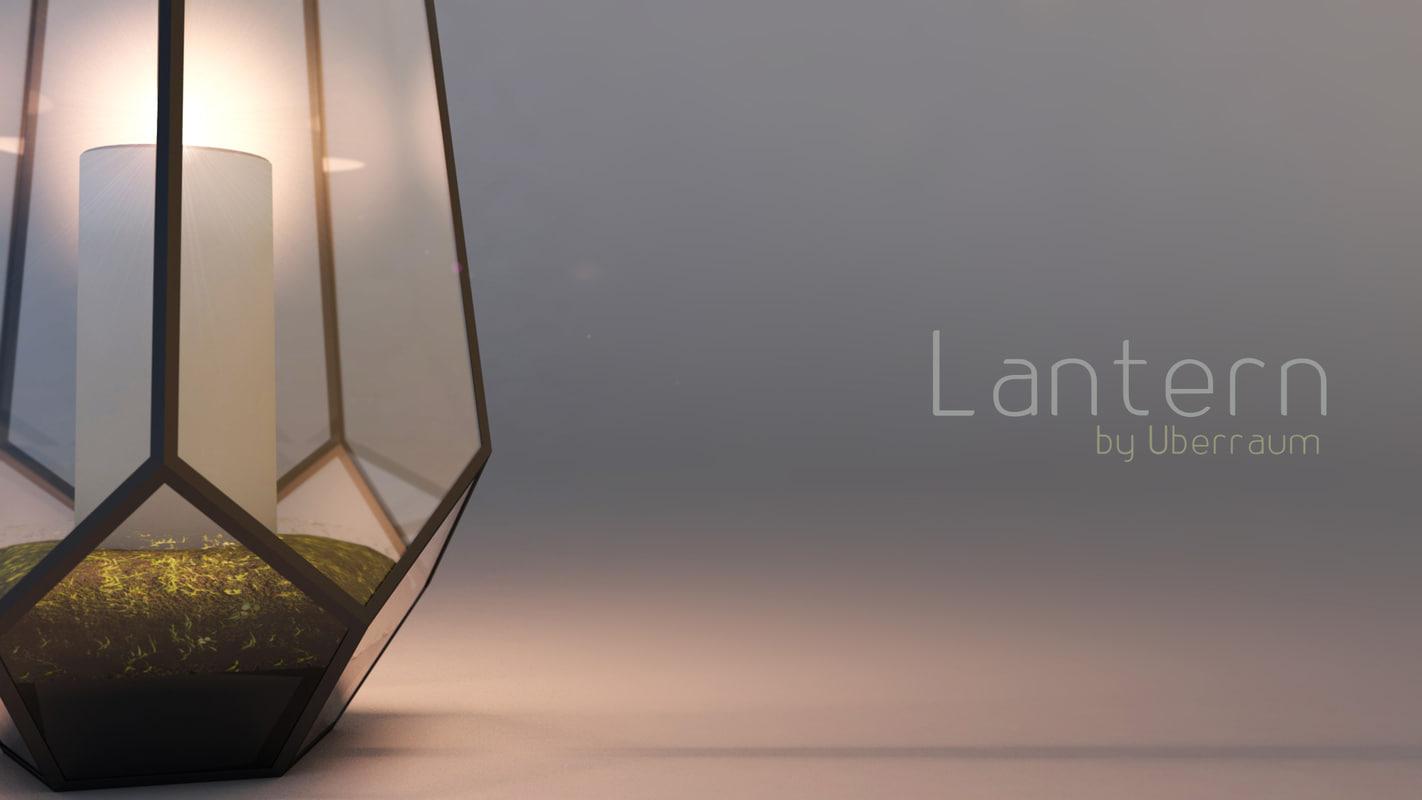 3D metal glass vase