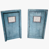 3D model lightwave games metal door