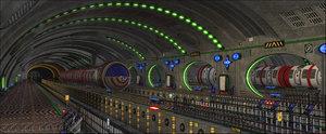 sci-fi metro 3D model