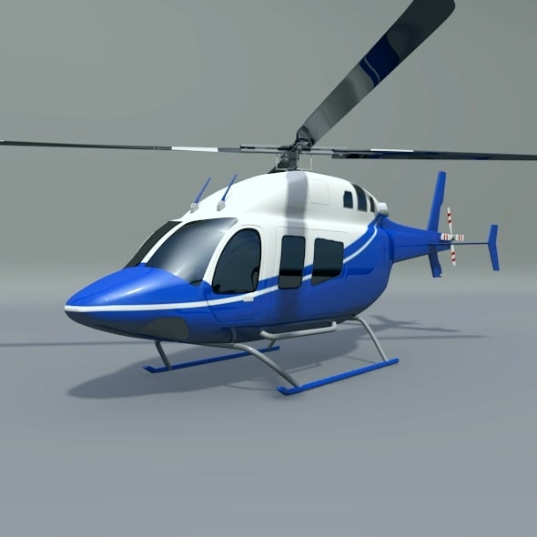 3D bell 429 helicopter
