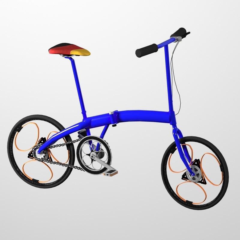 3D bike interior sport model