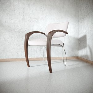 3D contemporary minimalistic chair