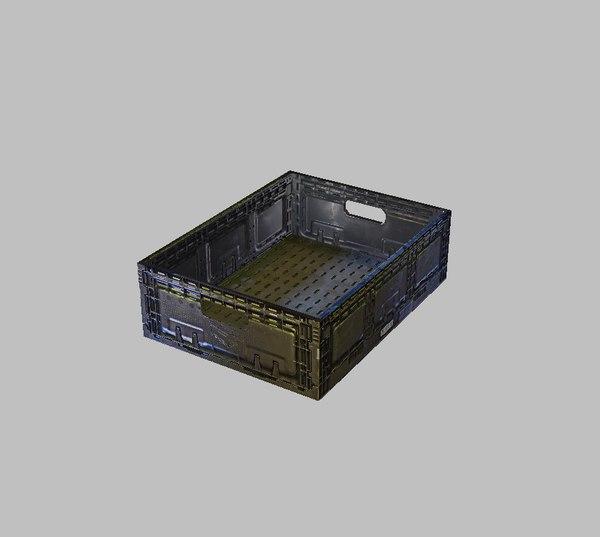 3D produce crate model