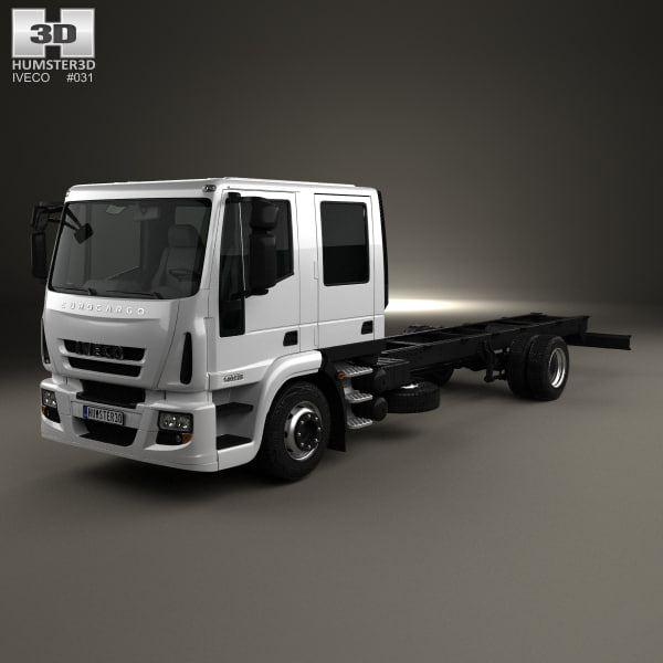 3D iveco eurocargo chassis model