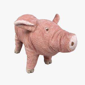 3D scan plush pig