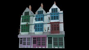 diagon alley 3D model