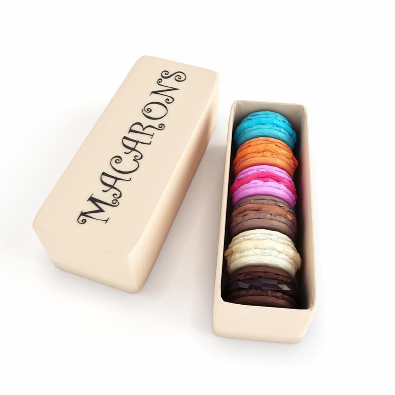 box macarons model