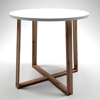 3D scandinavian style table