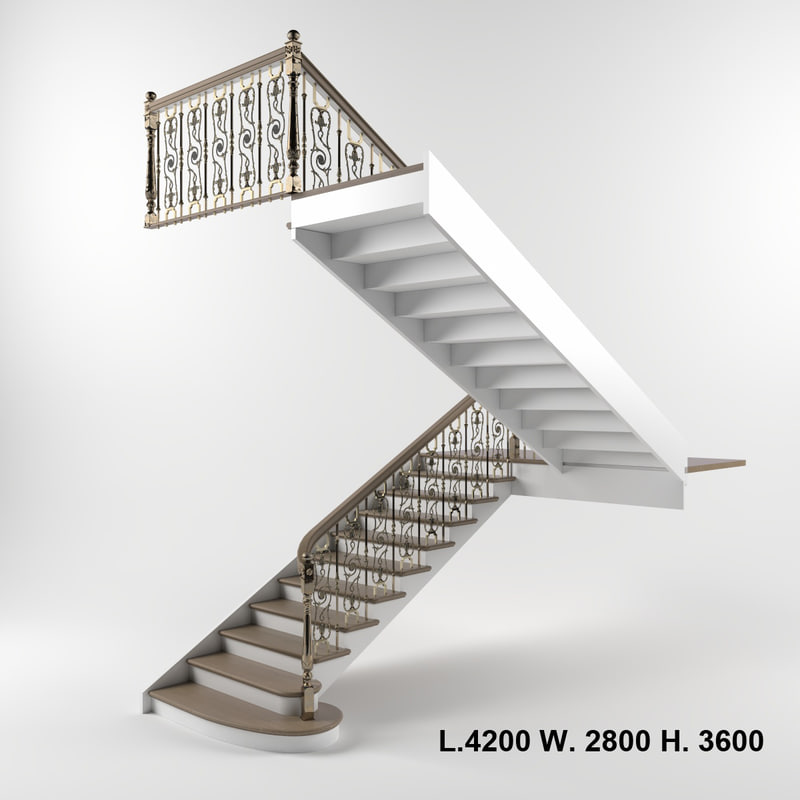3D interior stairs model