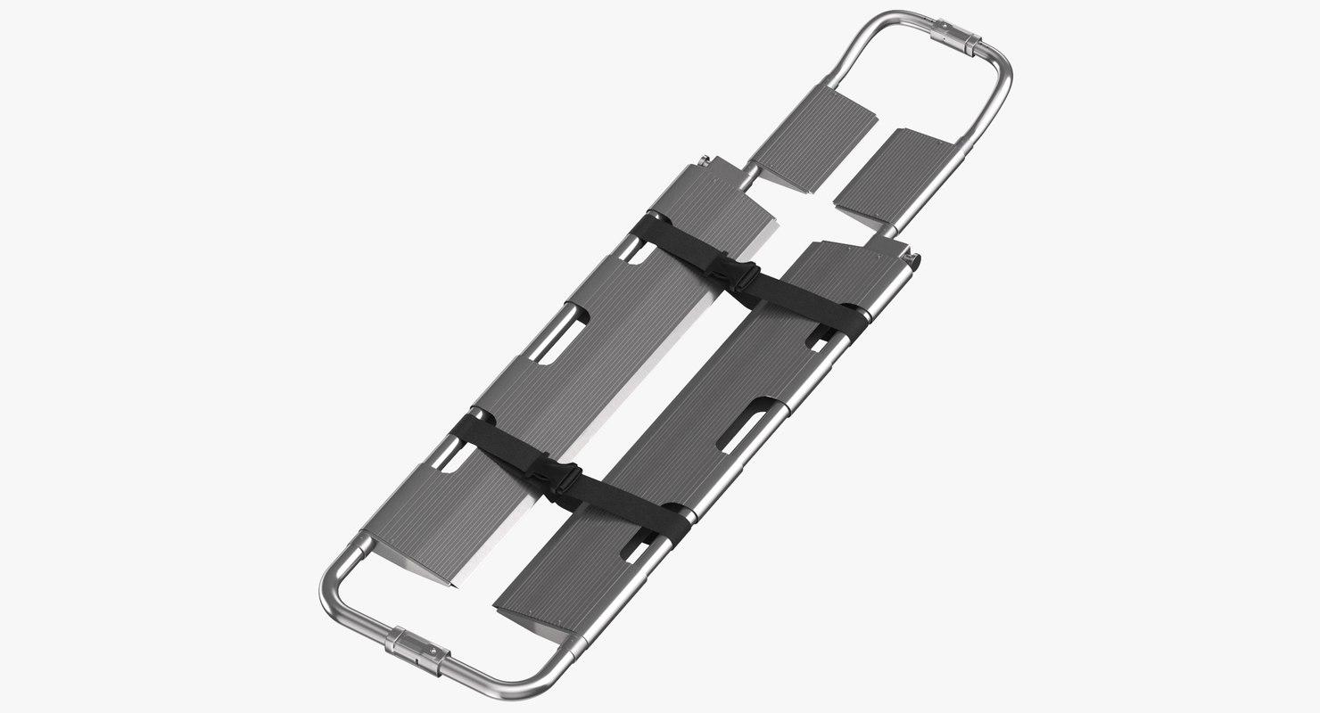 3D scoop stretcher