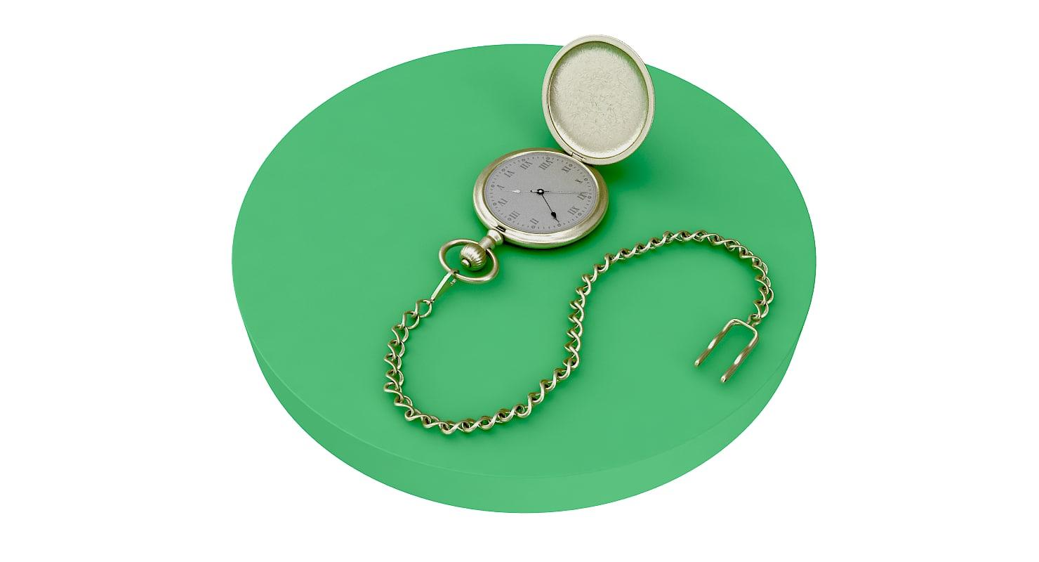 3D model pocket watch