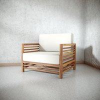 3D antique outdoor chair
