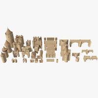 3D kit1 medieval castle