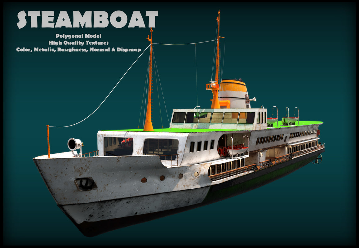 3D istanbul steamboats model