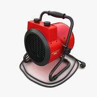electric fan heater 01 3D model