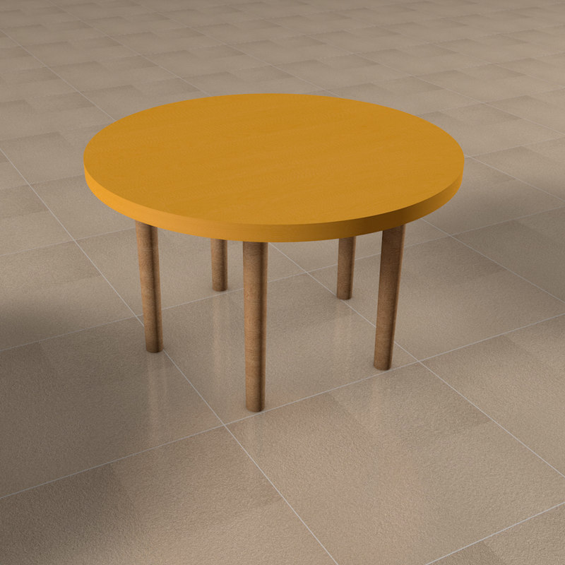 small center table 3D