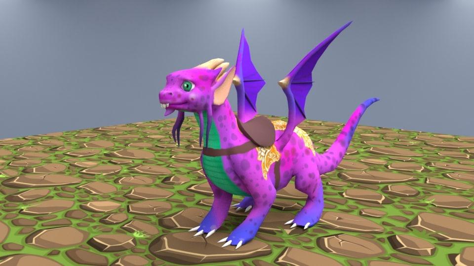 stylized dragon model