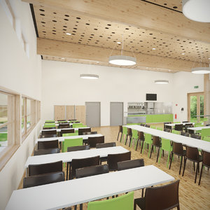 realistic photoreal cafe 3D model