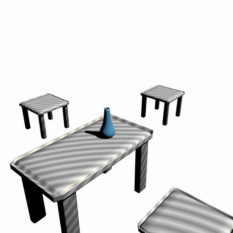 3D table stools vase