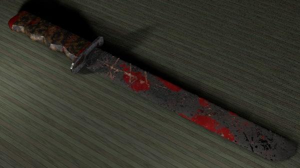 big bloody machete 3D model