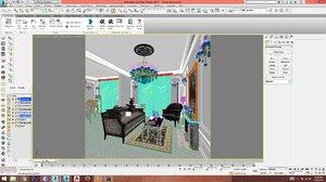 3D classic interior model