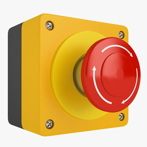 emergency stop button 3D