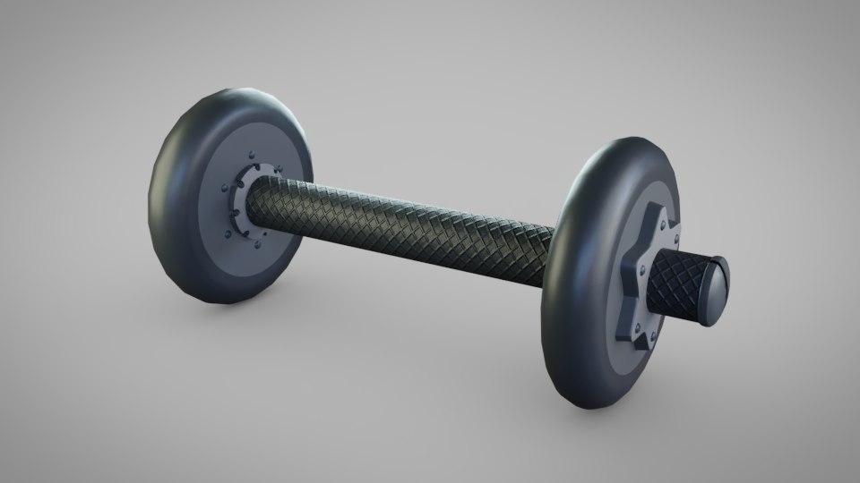 3D model dumbell