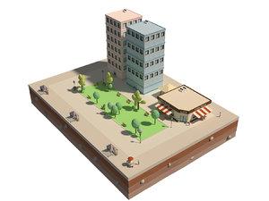 city blocks 3D