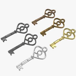 key 3D model