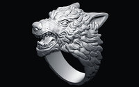3D model demon ring wolf