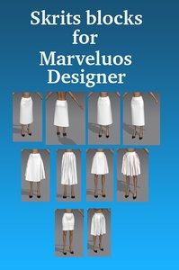 skirt blocks model