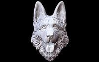3D dog german head model