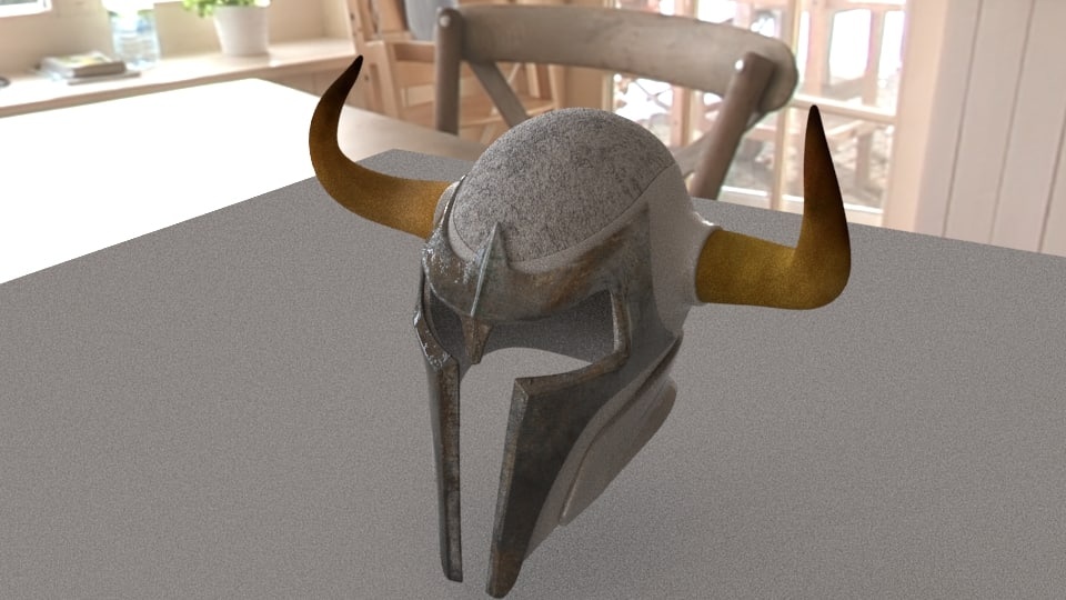 helmet viking 3D model