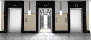 3D model elevator hall