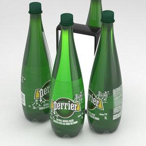 3D perrier water bottle