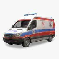 Ambulance Low Poly