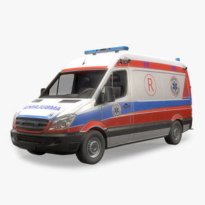 ambulance polygonal 3D model