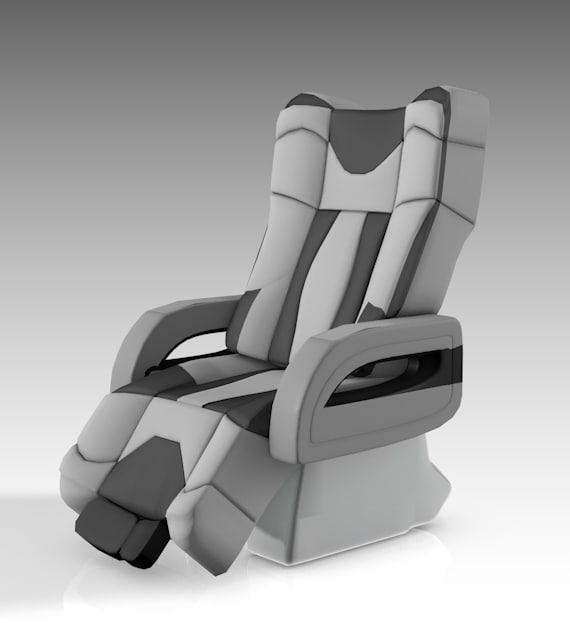seat aircraft class 3D model