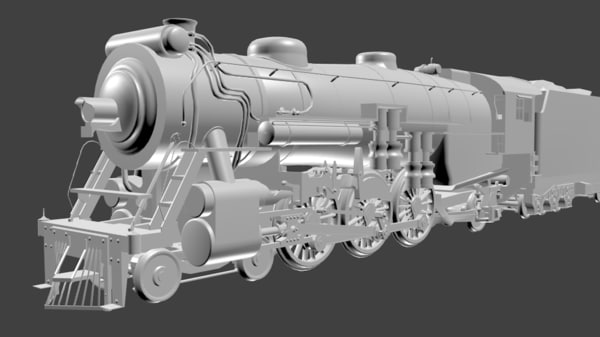 3D southern ps-4 locomotive steam model