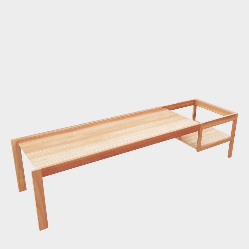 3D wooden children s table model